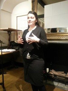 Second speaker of the evening Alessia