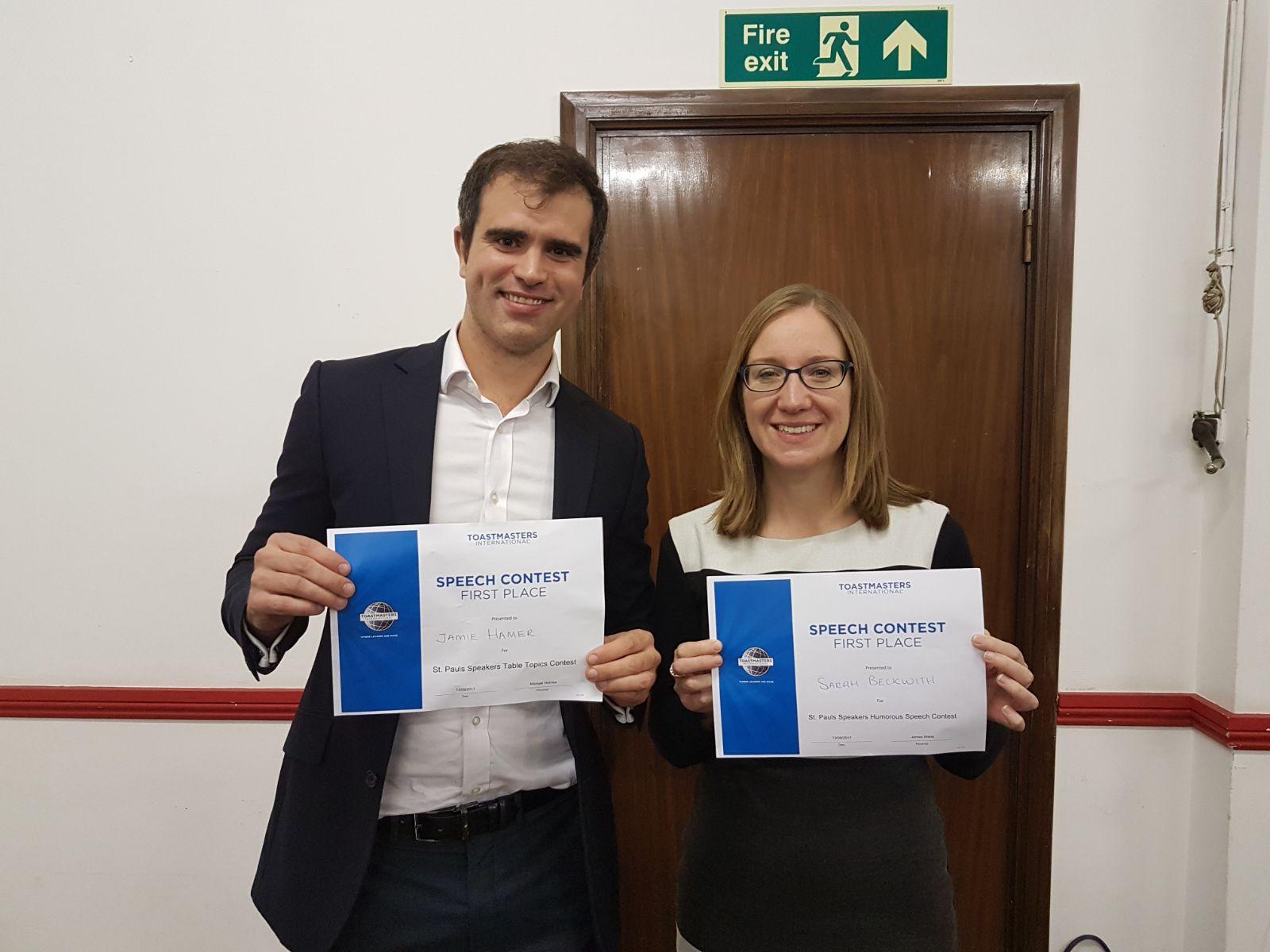 Winners Sarah & Jamie
